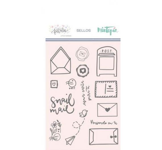 Sello Snail Mail  Coleccion Petalos de Little  Hannah