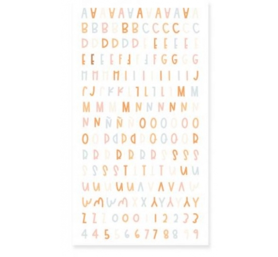 Alfabeto puffy CANELA
